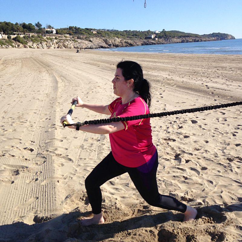 Entrenamiento personal en la playa en Sitges, Vilanova i la Geltrú, Garraf